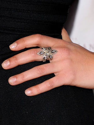 Mila Kunis Silver Cocktail Ring