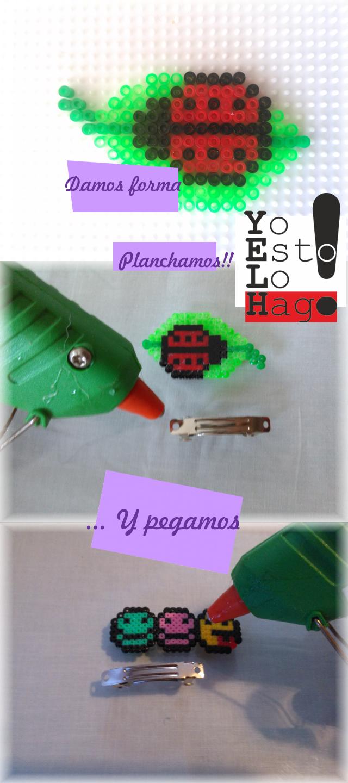 creando unos pasadores con hama beads
