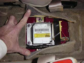 Air Bag Module on 2001 Chevy Malibu Belt