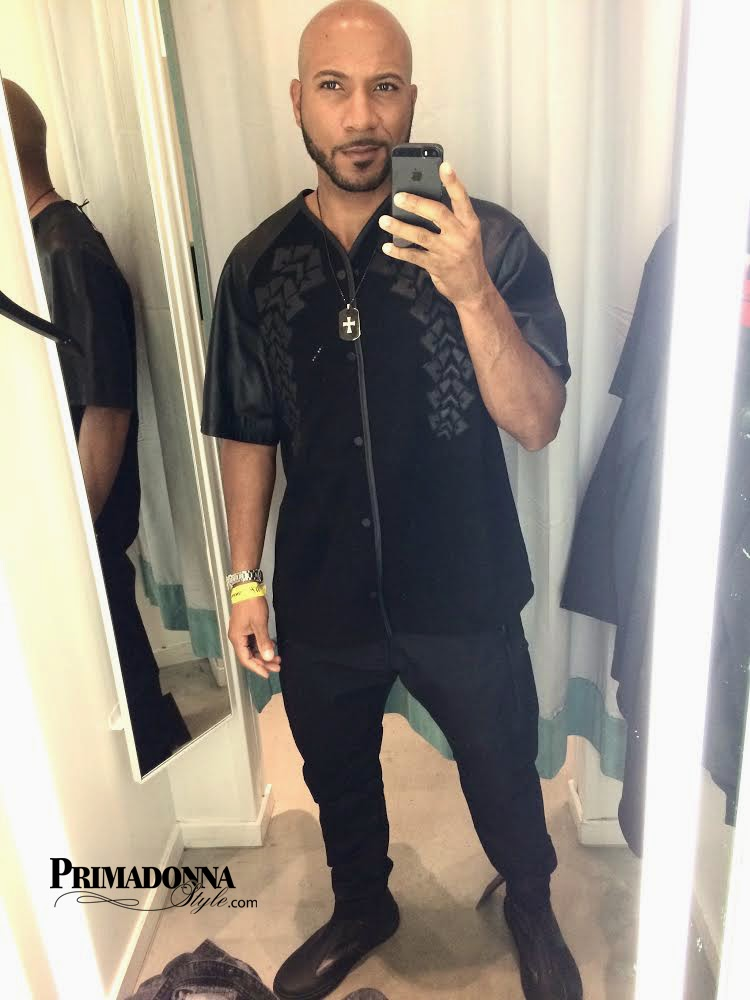 Alexander Wang for H&M Suede & Leather Shirt Tapered Jeans, and Leather High Tops