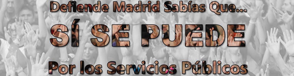 Defiende Madrid Sabías Que...