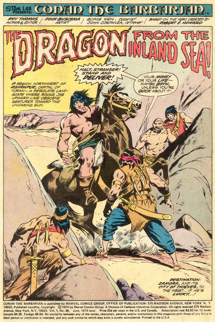 Conan the Barbarian (1970) Issue #39 #51 - English 2