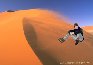 Wallpaper of Justin Bieber in Concert in Desert Wind desktop wallpaper