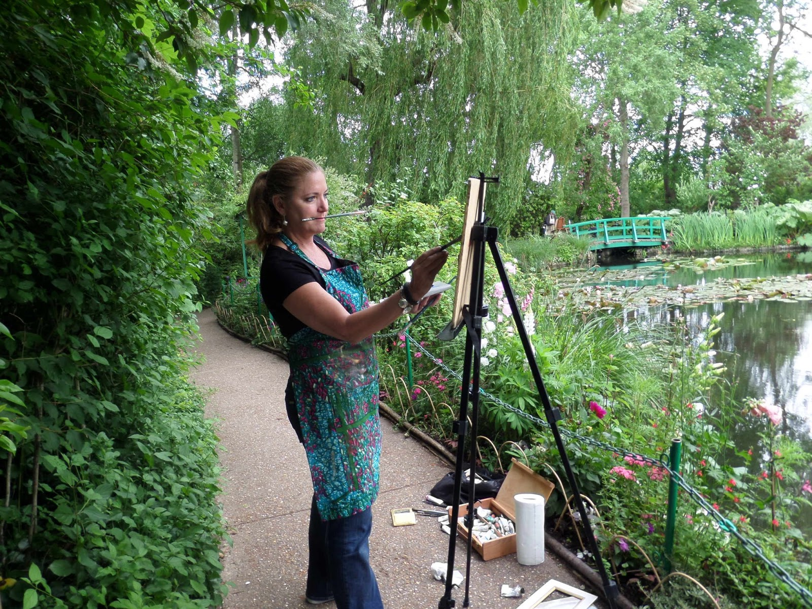 Teaching a workshop on the techniques and life of Monet while traveling from Paris to Normandy.