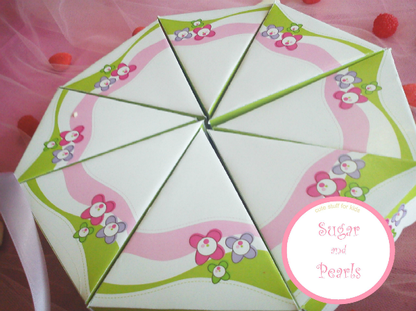Paper cake-Green floral by Sugar & Pearls