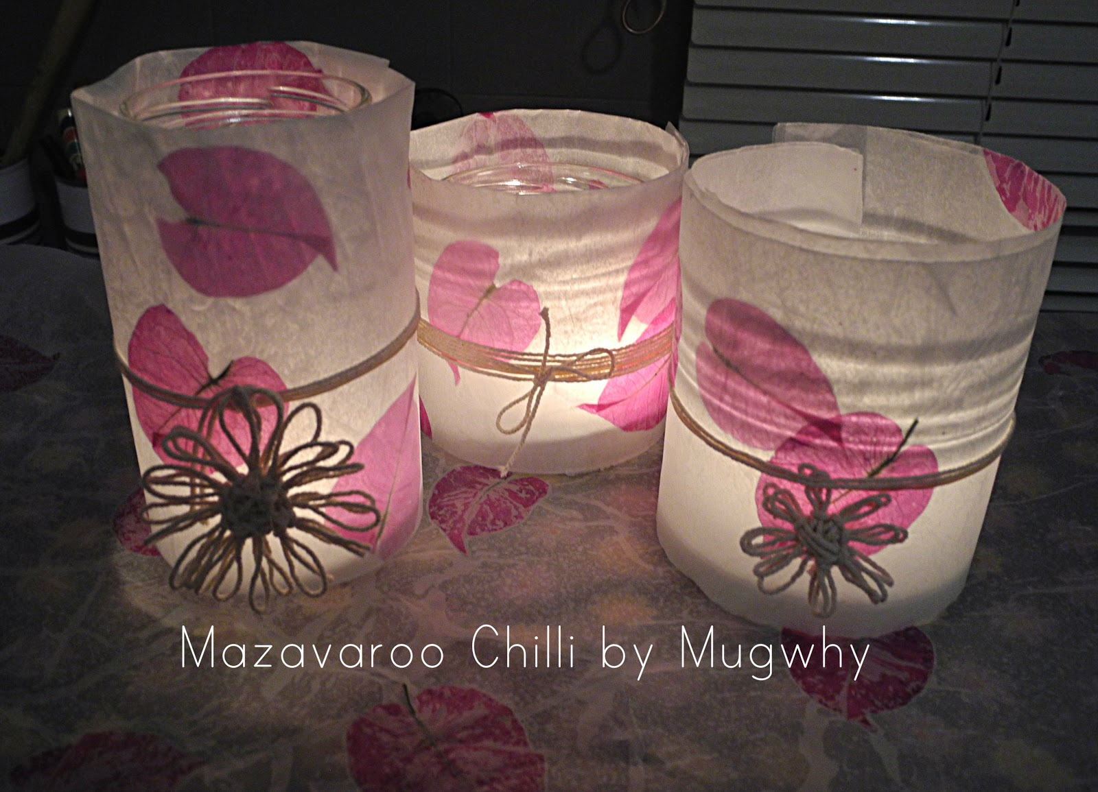 Mugwhys Vintage Wax Paper Flower Tea Light Lanterns Tutorial