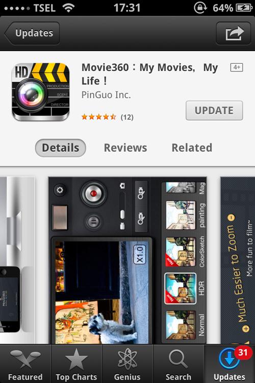 Aplikasi iPhone Terbaik 2015 - Movie360 Video Editor
