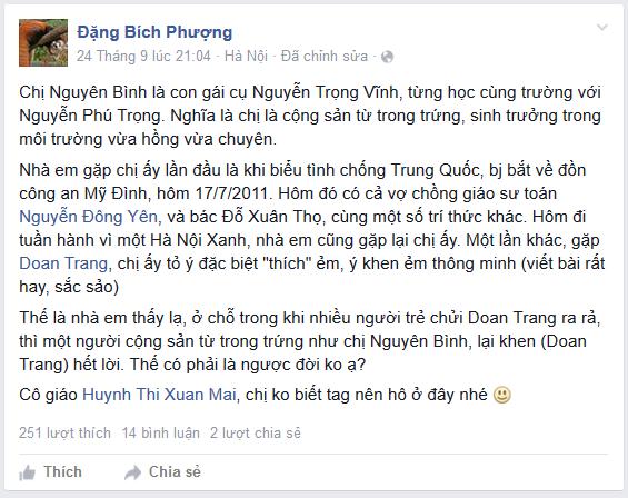 Đặng Bích Phượng sống chết bảo kê cho Đoan Trang?