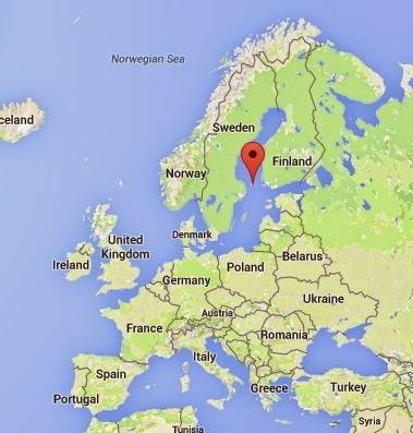 Haritalarda Aland Adaları