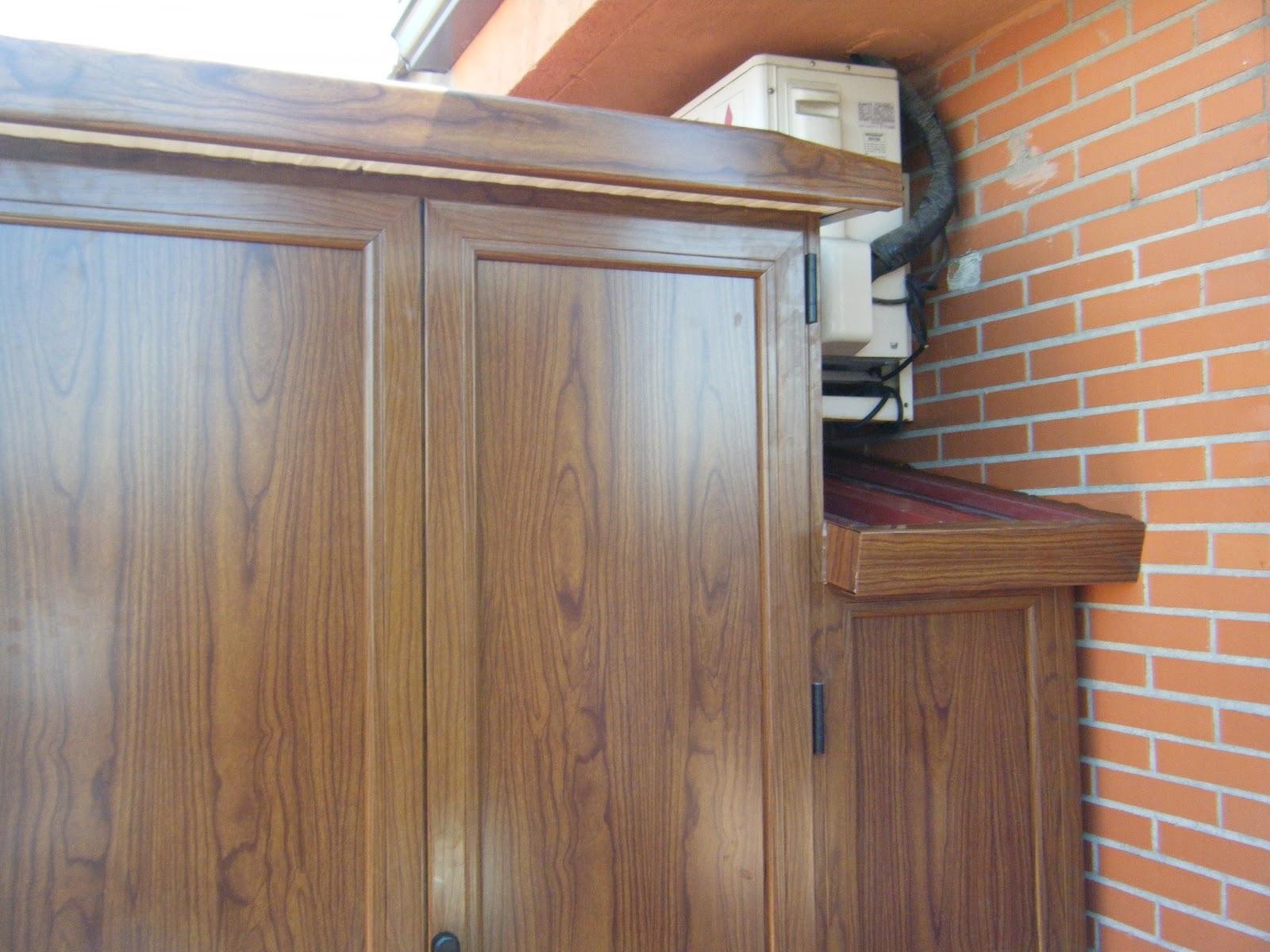 Aluminios alusa armario imitacion madera - Armario aluminio terraza ...