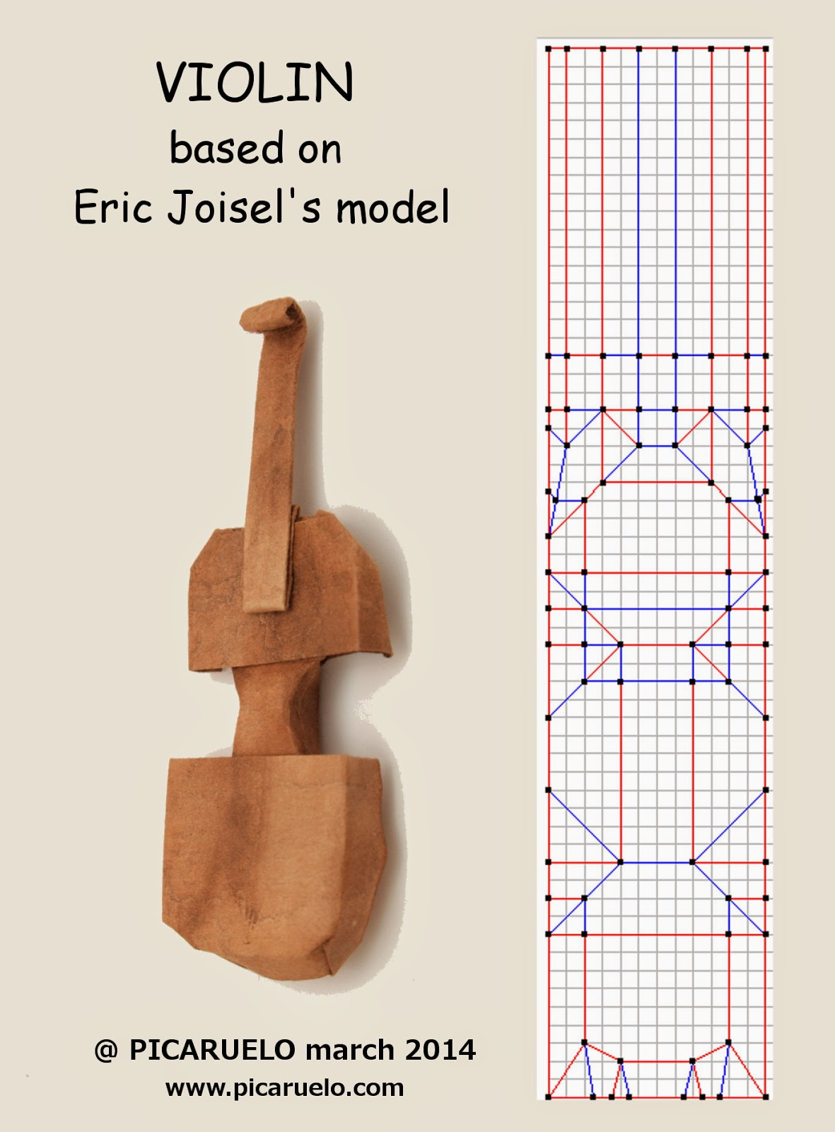 picaruelos origami the violin