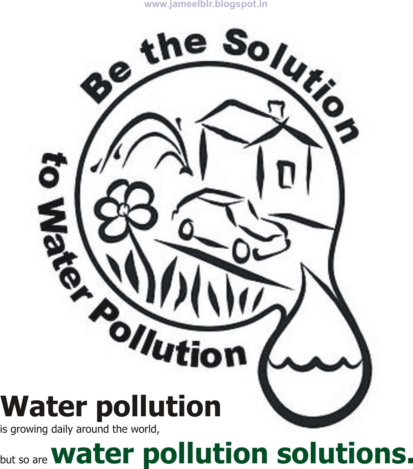 water pollution coloring pages a blackwhite drawing showing