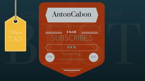 Cara Membuat Kotak Subscribe Via Email Menarik Dan Keren