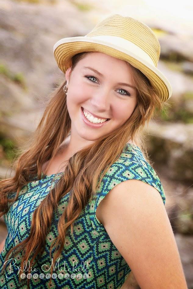 senior girl in hat