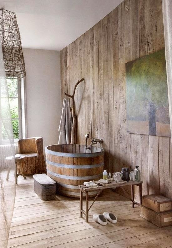 Baños Rusticos Madera:Rustic Bathroom Ideas Bathtub