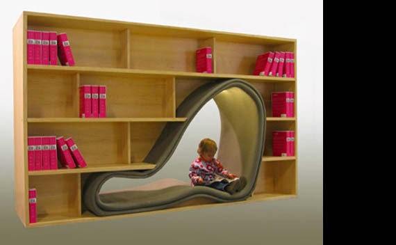 Cool space on book shelve