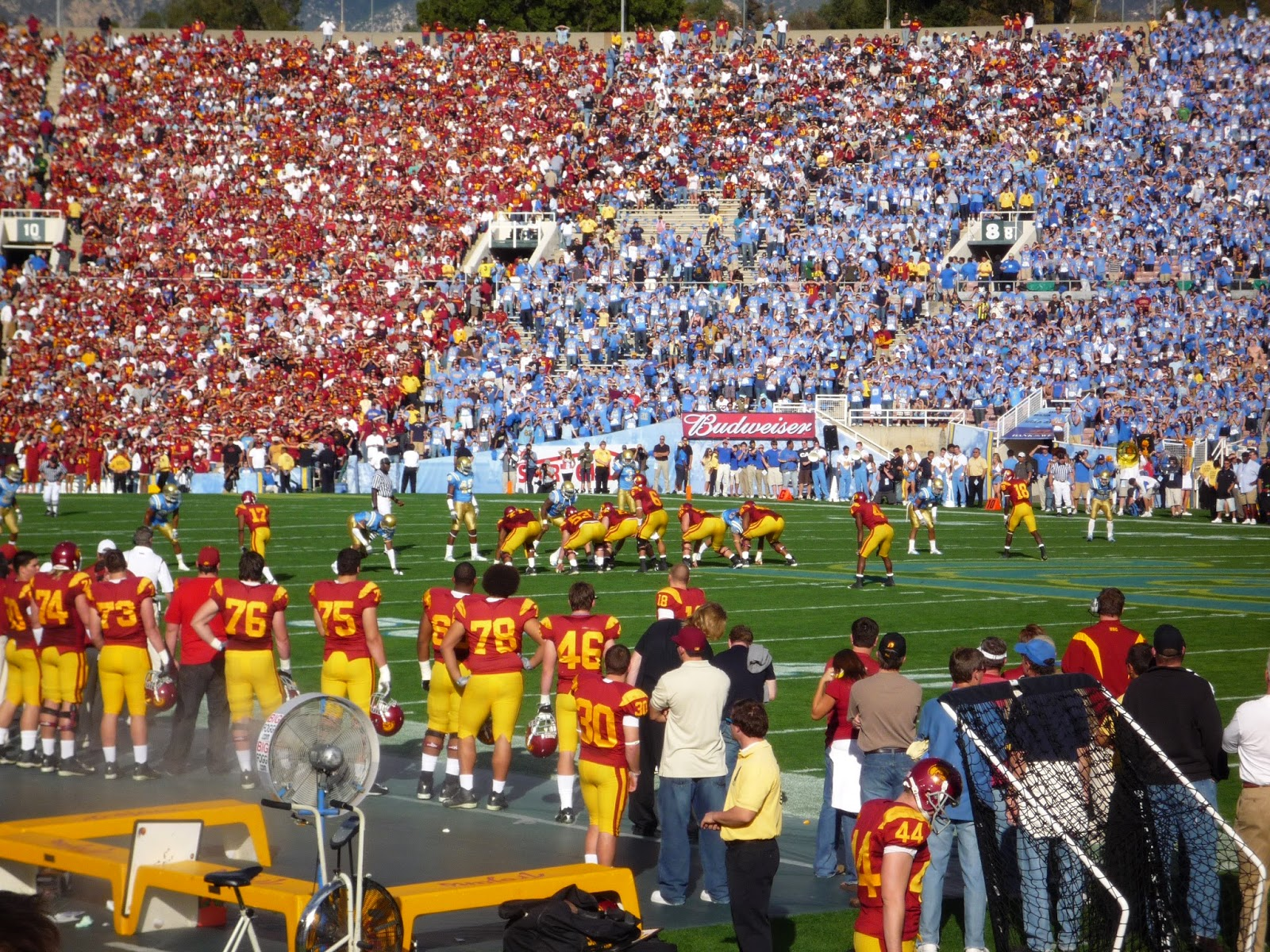 usc ucla red blue