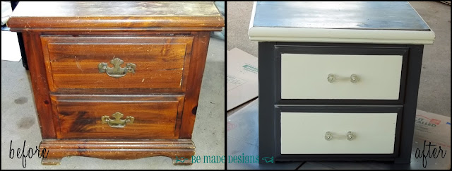Nightstand Revival Before & After {be made designs}
