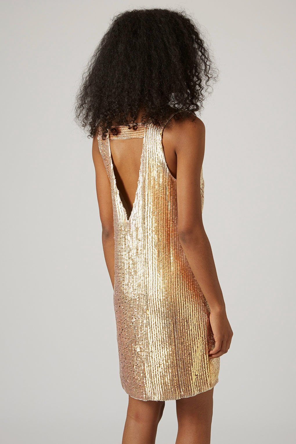 gold sequin dress with back detail, gold sequin dress topshop, gold sequin dress,