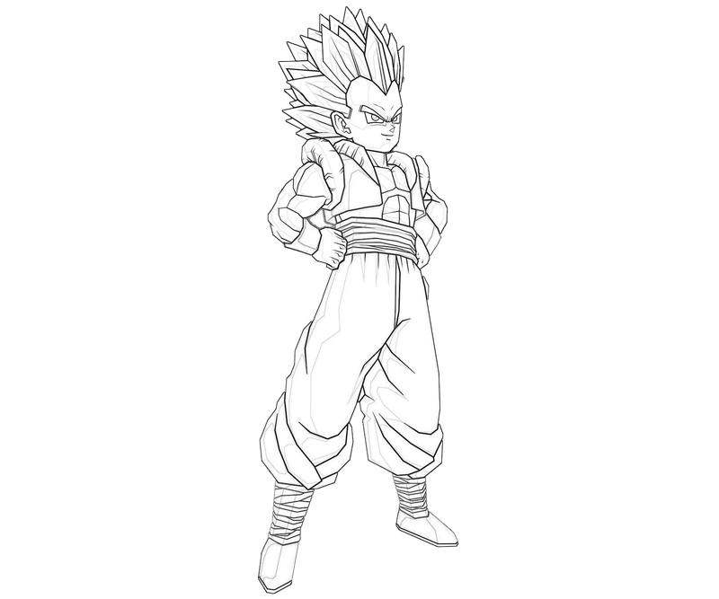 goten coloring pages - photo#10