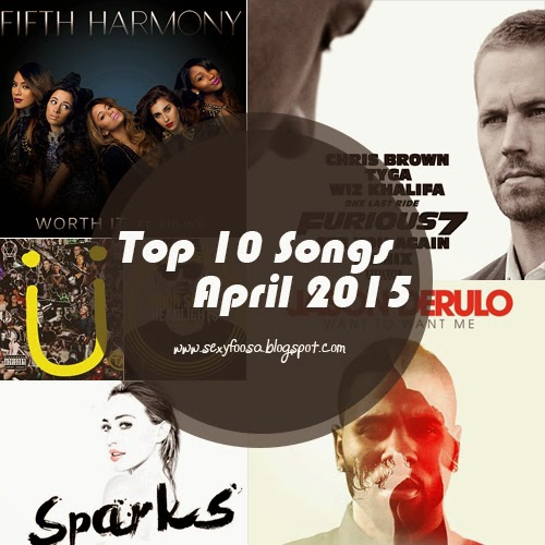 Hot 100 songs of April 2015 playlist summertime beat popular spotify spinner youtube trending club house music happy ecstasy highly addictive music rnb hiphop furious 7 soundtracks pop the best of them this month