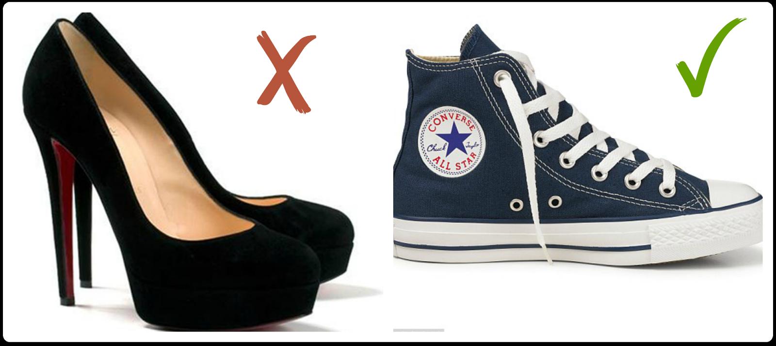 calzado para llevar en fallas no pumps o tacones, si zapato cómodo converse