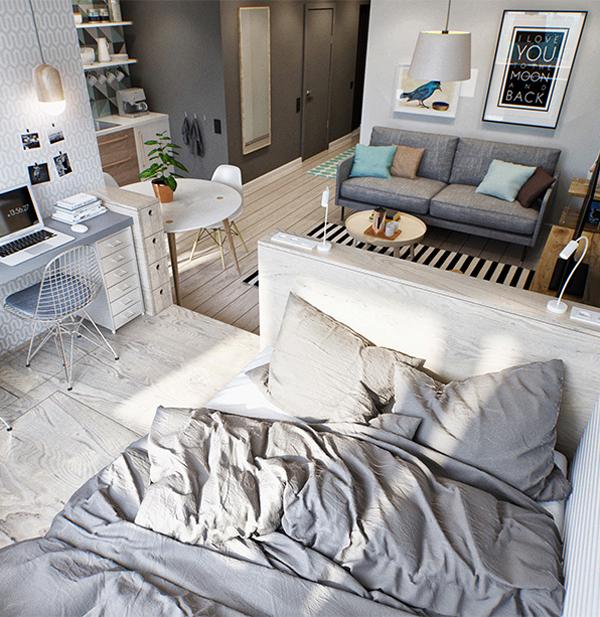 aparatamento pequeño dormitorio