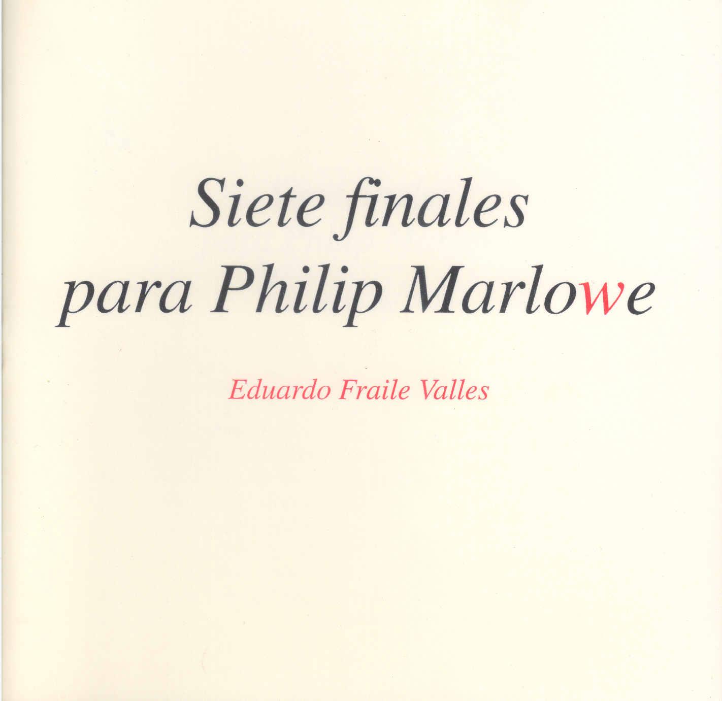 Siete finales para Philip Marlowe