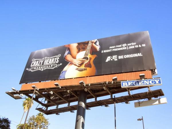 Crazy Hearts Nashville series premiere billboard