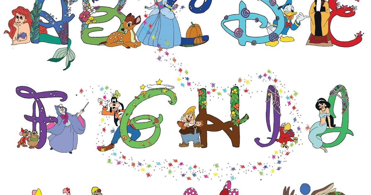 Zoee Liu Disney Alphabet AS Graphics Project