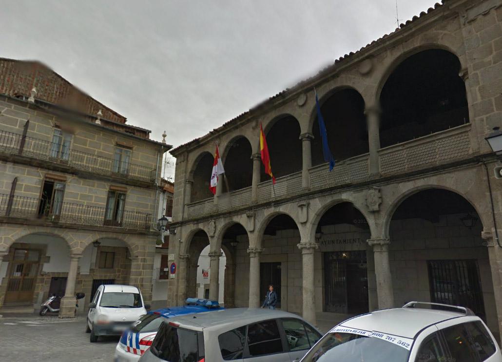 Fachada del Ayto sin bandera de Béjar. Imagen de Google maps