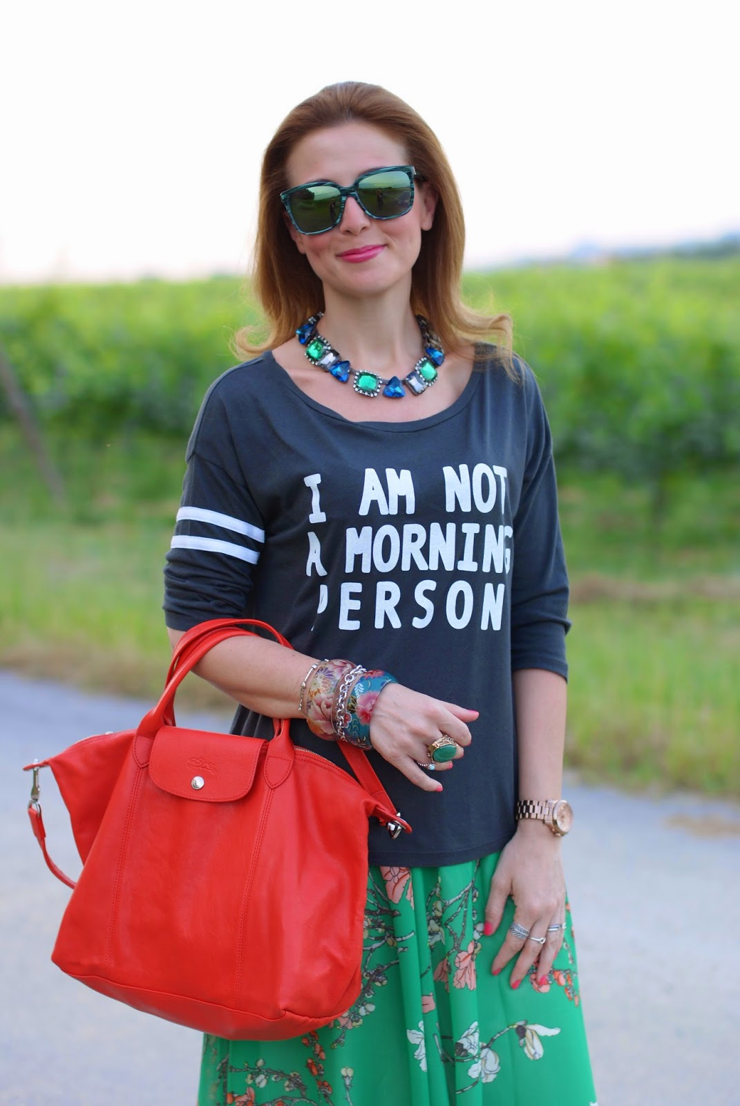 Not a morning person t-shirt, HYPE occhiali da sole, Fashion and Cookies, fashion blogger