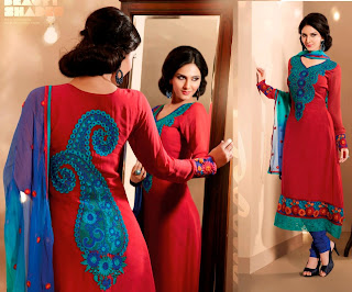 red embroidery dress 2013