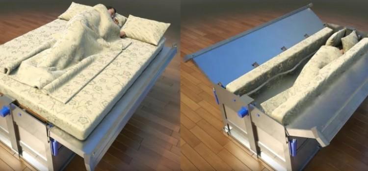 tempat tidur unik tahan gempa