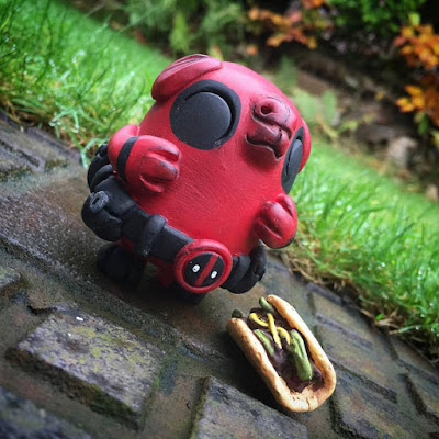 "Spanky Stokes Exclusive ""Deadpool"" Bagel Resin Figure by UME Toys"