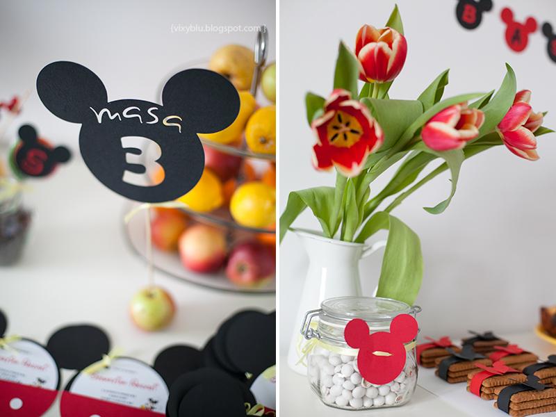 numar masa decupat Mickey, Mickey Mouse, pachet petrecere copii Mickey