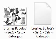 Exemplo colecção pincéis adicionais JotaV