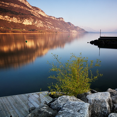 Image of Bourget lake near Chindrieux in Savoie