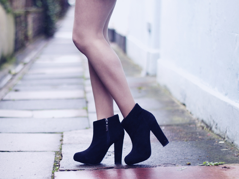 boohoo black boots north laines Brighton