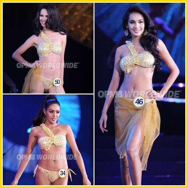 Binibining Pilipinas 2013 Coronation Night PhotoGrids: Swimsuit