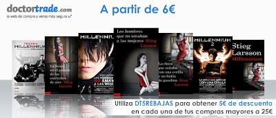 Imagen promocional de la oferta de la saga Millennium de Doctortrade