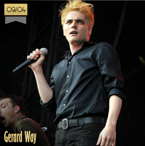 9 de abril | Gerard Way - @gerardway | Info + vídeos