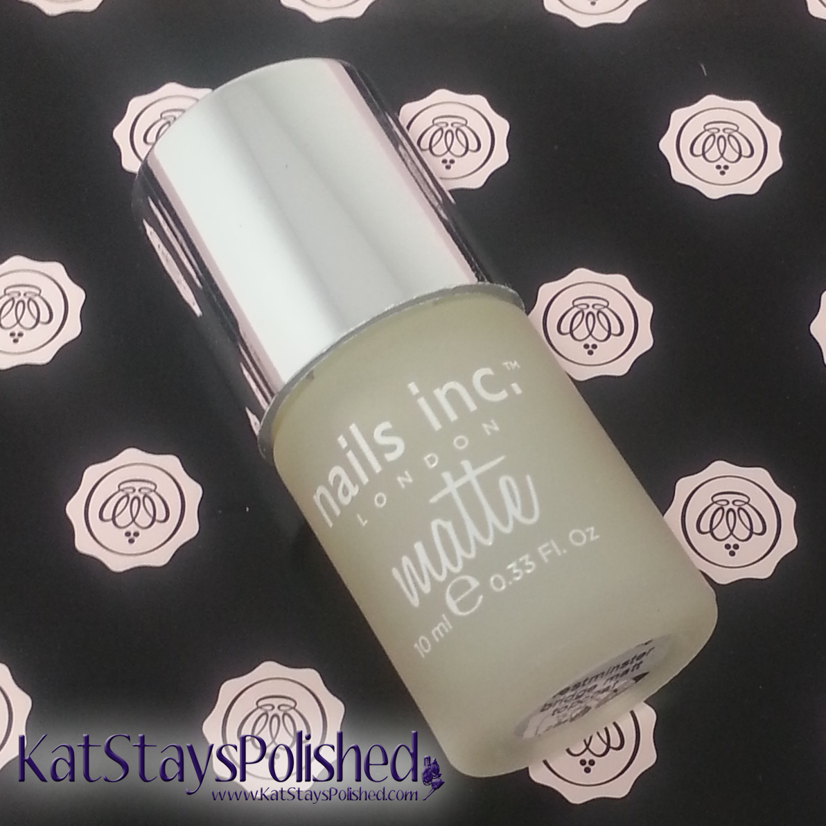 Glossybox October 2014 - Nails Inc Westminster Bridge Matte Top Coat | Kat Stays Polished