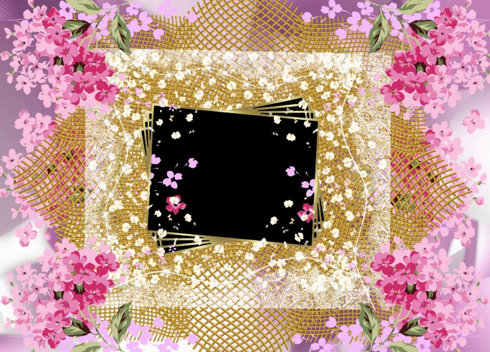 Marcos digitales con flores imagui - Disenos de cuadros ...