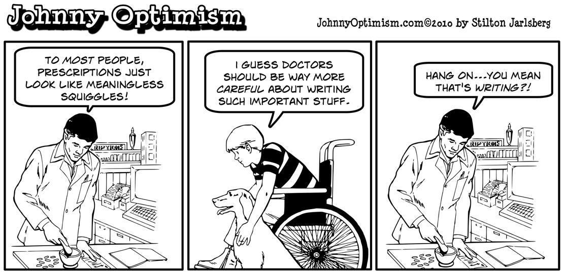 Johnny optimism, johnnyoptimism, pharmacist, medical humor