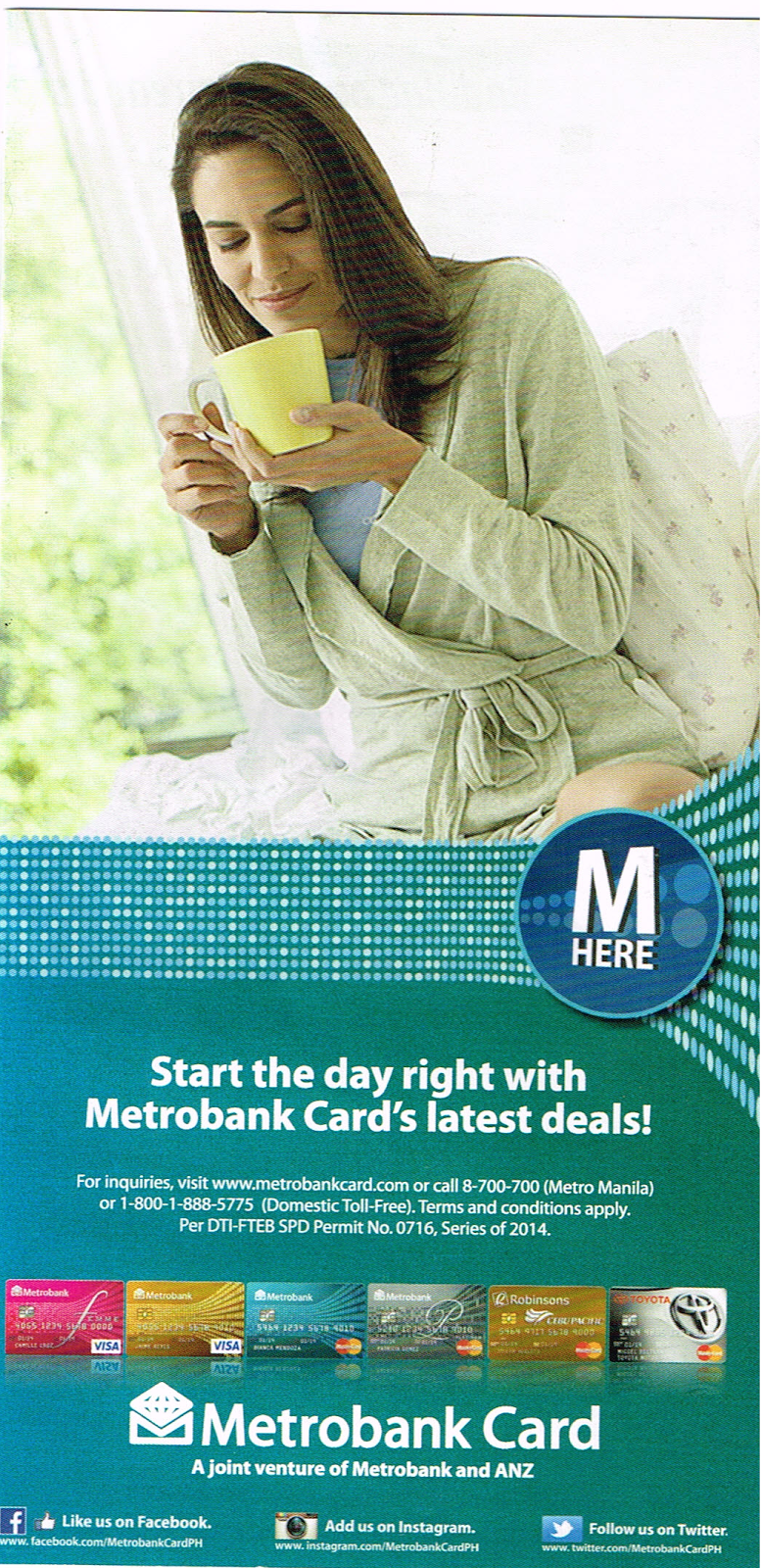 Start the day right with Metrobank Card's latest deals!