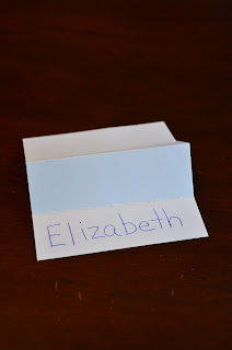 creating and folding a name place card