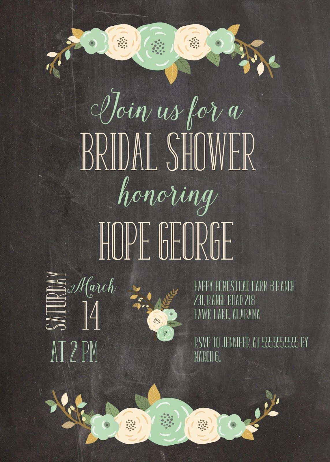 amazon com rustic bridal shower invitations with envelopes pack of