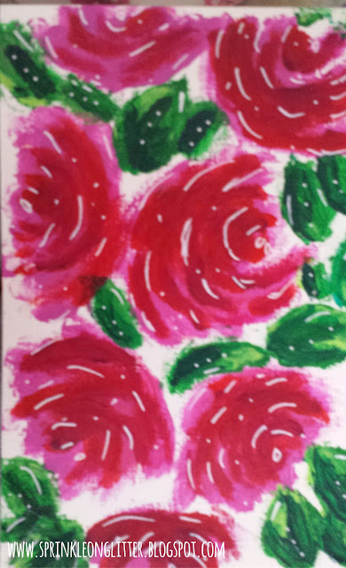 Roses- finger painting- write 31 days