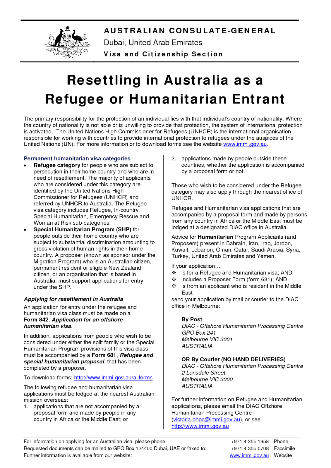 Australia Form 842 Vai ~ Thu Tatuam (Siyin News)
